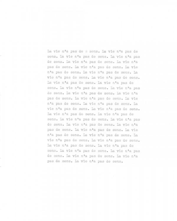 Page de texte écrit à la machine à écrire : Page 4