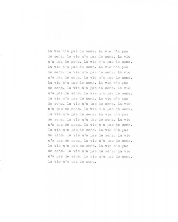 Page de texte écrit à la machine à écrire : Page 8