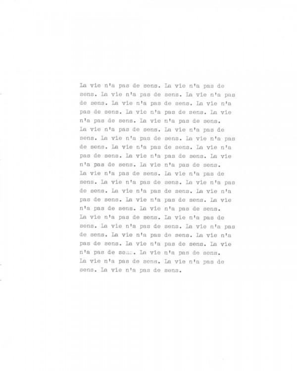 Page de texte écrit à la machine à écrire : Page 3