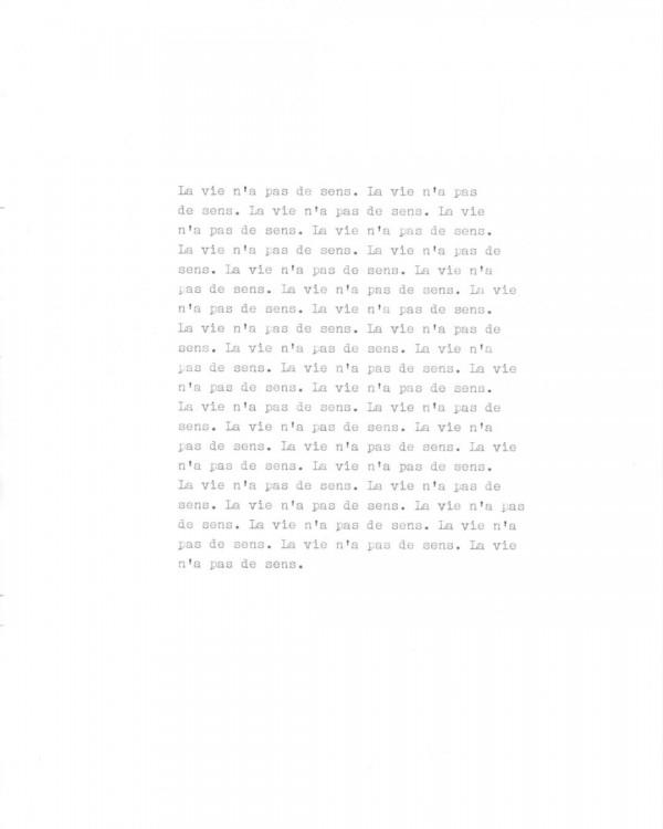 Page de texte écrit à la machine à écrire : Page 10