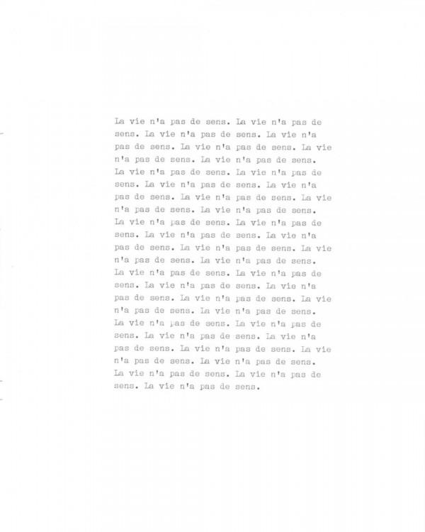 Page de texte écrit à la machine à écrire : Page 5