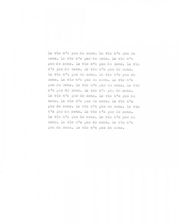 Page de texte écrit à la machine à écrire : Page 11