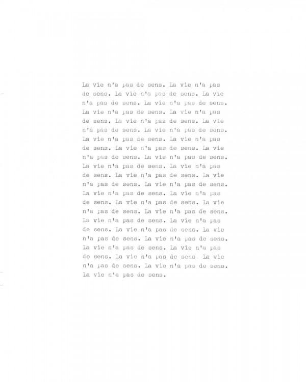 Page de texte écrit à la machine à écrire : Page 2