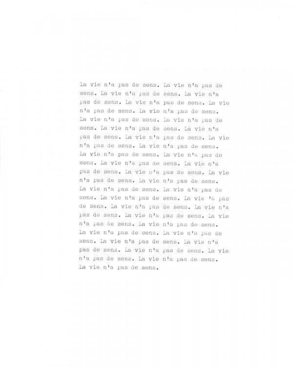 Page de texte écrit à la machine à écrire : Page 7