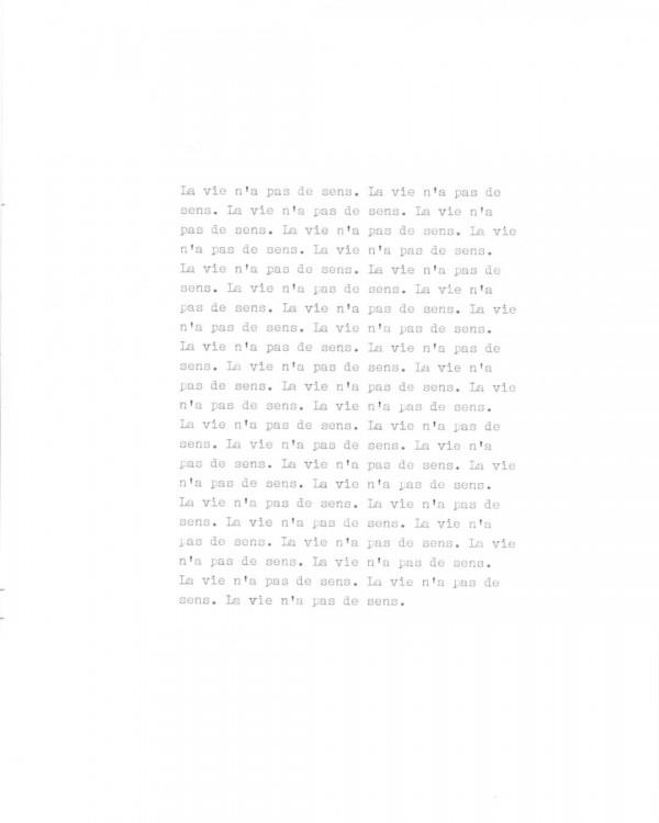 Page de texte écrit à la machine à écrire : Page 6