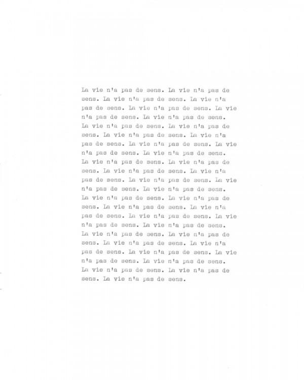 Page de texte écrit à la machine à écrire : Page 9